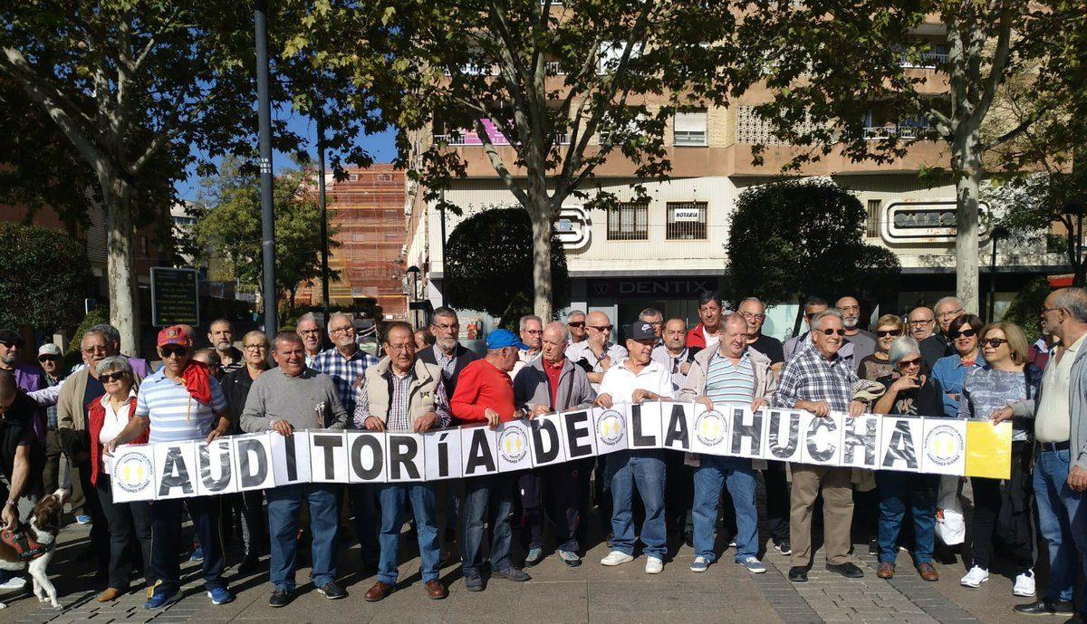 La plataforma de pensionistas de Móstoles continúa su calendario de movilizaciones