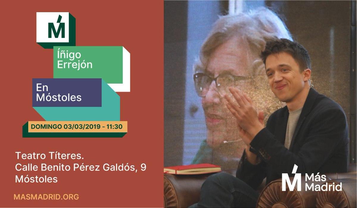 Acto de Iñigo Errejón en Móstoles junto a Gabriel Ortega